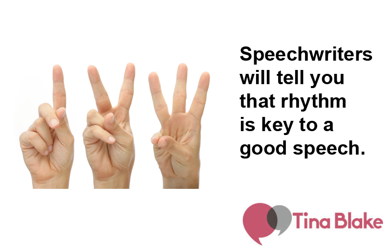 Speechwriting: The Rule of Three