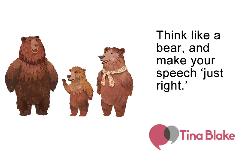 Make It Just Right: Speaking and the Three Bears